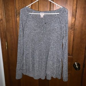 Mossimo gray sweater tunic top